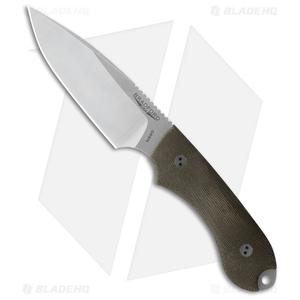 Bradford Knives Guardian4 Knife 3D Green Micarta (False Edge/N690/Satin)
