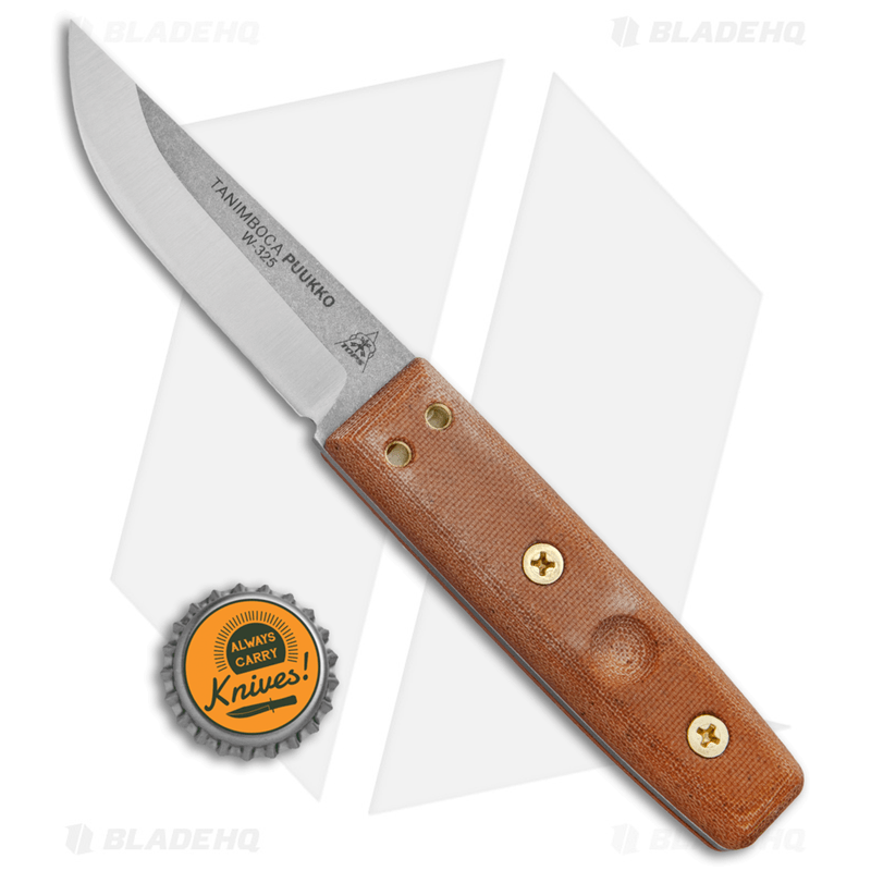TOPS-Knives-Tanimboca-Puukko-Knife-Tan-Canvas-Micarta--3.6--Satin-