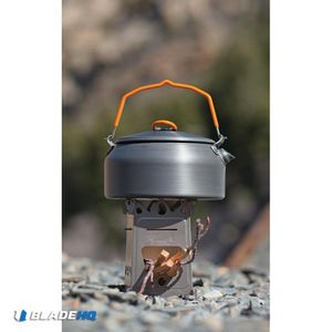 EmberLit Fire Ant Wood Burning Multi-Fuel Titanium Steel Stove
