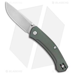 GiantMouse Vox/Anso ACE Iona Liner Lock Knife Green Aluminum (Stonewash)