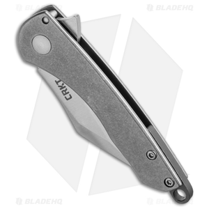 "CRKT Jettison Compact Frame Lock Flipper Knife Titanium (2"" Stonewash) 6120"