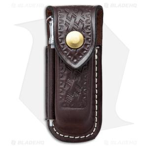 Victorinox Zermatt Large Brown Leather Belt Sheath  w/ Sharpening Steel 33208