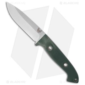 "Benchmade 162 Bushcrafter Sibert Fixed Blade Knife Green G-10 (4.43"" Satin) 162"