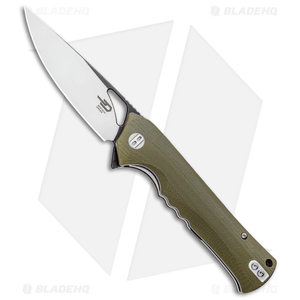 "Bestech Knives Muskie Liner Lock Knife Green G10 (4"" Black/Satin)"