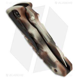 "Ontario Extreme Military XM-1 Folding Knife Desert Camo (3.38"" Serr) 8765"