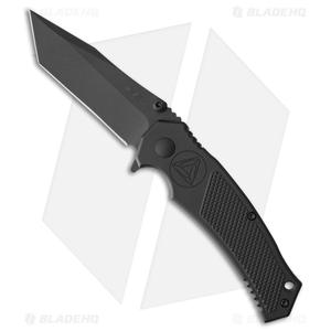 "Combative Edge M1X Tanto Liner Lock Knife Black Aluminum (3.25"" Black)"