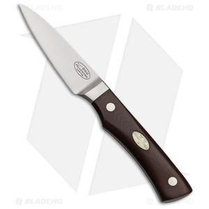 "Fallkniven CMT Zulu Fixed Blade Kitchen Knife Red Micarta (3"" Satin)"