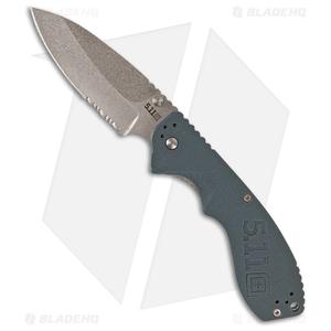 """5.11 Tactical Courser 3.5 Liner Lock Knife Blue FRN (3.5"""" Stonewash Serr)"""
