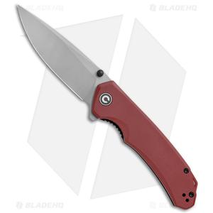 """CIVIVI Brazen Drop Point Liner Lock Knife Red G-10 (3.5"""" Stonewash)  C2102B"""