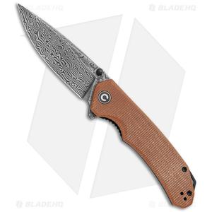 "CIVIVI Brazen Drop Point Liner Lock Knife Brown Micarta (3.5"" Dam.)"