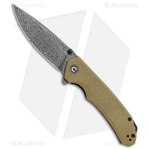 "CIVIVI Brazen Drop Point Liner Lock Knife Olive Micarta (3.5"" Dam.)  WE-19059B-5"