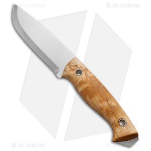"Helle Utvaer Fixed Blade Knife Curly Birch (4"" Polish) #600"
