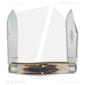 "GEC #81 Northfield UN-X-LD Bull Moose Pocket Knife 3.8"" Sambar Stag 811217"