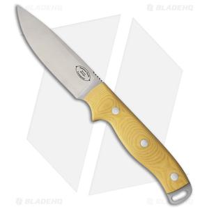 "American Knife Company Shenandoah Fixed Blade Knife Yellow Micarta (4.25"" Satin)"