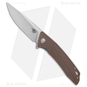 "Bestech Knives Spike Liner Lock Knife Brown G-10 (3.5"" Stonewash) BG09C-2"