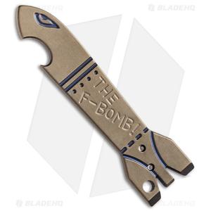 Cucchiara F-Bomb Titanium Bottle Opener Money Clip (Bronze)