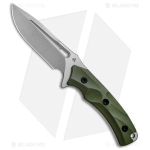 "WE Knife Co. Vindex Fixed Blade Knife Green G-10 (4.3"" Stonewash) 802A"