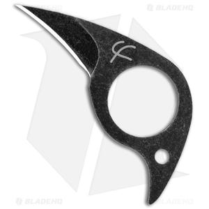 """Fred Perrin Mini-Pic Fixed Blade Neck Knife Black (1.12"""" Black)"""