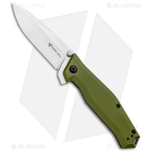 """Steel Will Apostate 1152 Frame Lock Knife OD Green G-10/Ti (3.75"""" Satin)"""