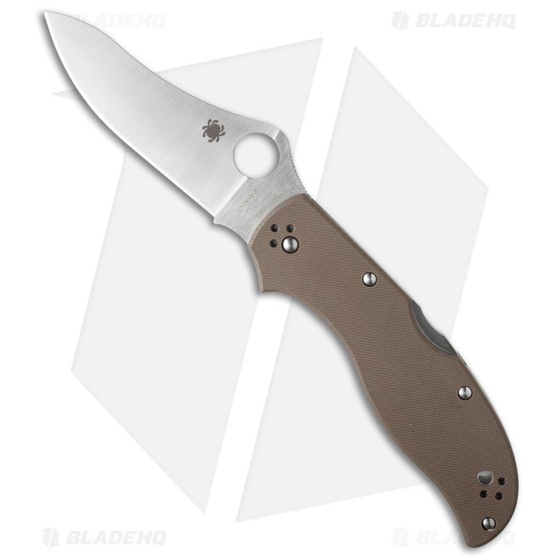 Spyderco-Stretch-2-Knife-Brown-G-10--3.5--Satin-ZDP-189--C90GBNPE2