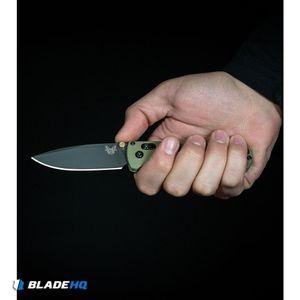 "Benchmade Bugout AXIS Lock Knife Blue (3.24"" Satin Serr) 535S"