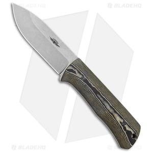 "Jarosz Woodsman Fixed Blade Knife Richlite (3.75"" Stonewash AEB-L)"