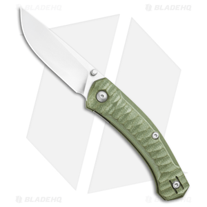"""GiantMouse Vox/Anso ACE Iona Liner Lock Knife Green G-10 (2.9"""" Satin)"""