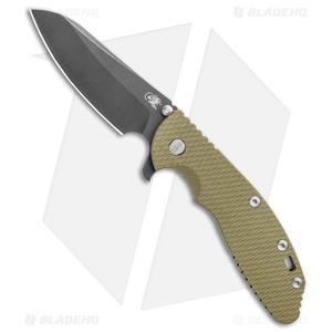 Hinderer Knives XM-24 4.0 Sheepsfoot Flipper Knife OD G-10 Battle Black (DLC)