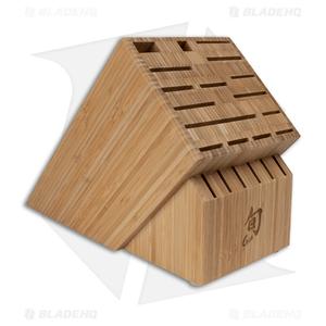 Shun 22-Slot Angled Kitchen Knife Bamboo Block - DM0832
