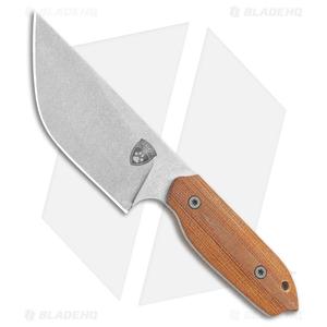 """Sheepdog Knives LDT Fixed Blade Knife Natural Micarta (4"""" Stonewash)"""