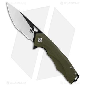 """Bestech Knives Toucan Liner Lock Knife Green G-10 (3.5"""" Black) BG14B-2"""