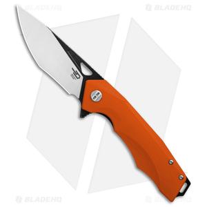 """Bestech Knives Toucan Liner Lock Knife Orange G-10 (3.5"""" Satin) BG14D-2"""