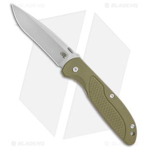 """Hinderer Knives Firetac Recurve Frame Lock Knife OD Green/Bronze(3.6"""" Stonewash)"""