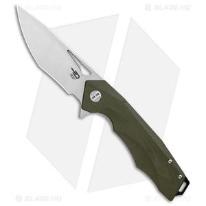 """Bestech Knives Toucan Liner Lock Knife Green G-10 (3.5"""" Satin) BG14B-1"""