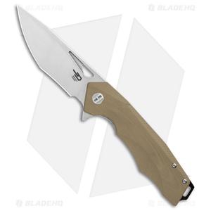 """Bestech Knives Toucan Liner Lock Knife Tan G-10 (3.5"""" Satin) BG14C-1"""