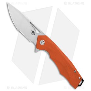 """Bestech Knives Toucan Liner Lock Knife Orange G-10 (3.5"""" Satin) BG14D-1"""