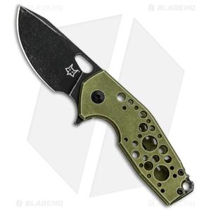 "Fox Knives Vox Suru Frame Lock Flipper Knife Green (2.3"" Black Stonewash)"