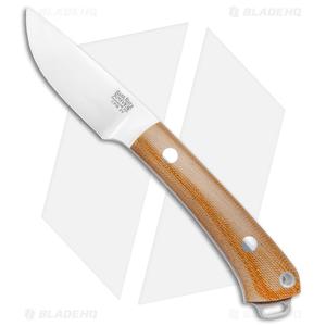 "Bark River Mini Fox River Natural Micarta Fixed Blade Knife (2.9"" Satin 3V)"