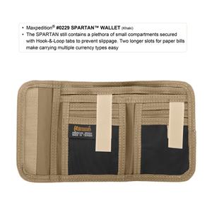 Maxpedition Spartan Black Wallet 0229B