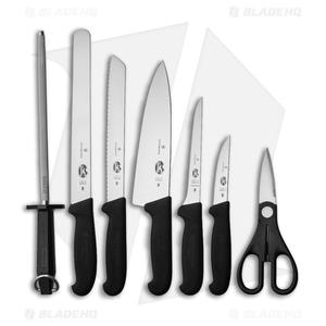Victorinox Fibrox 8-Piece Kitchen Knife Set w/Block (Black VN511938X2)