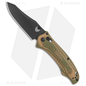"Benchmade Rift 950BK-1802 Limited Edition Knife OD/ Tan G-10 (3.67"" Black)"