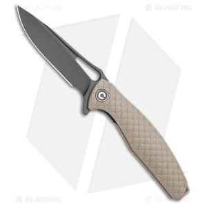 "CIVIVI Wyvern Folding Flipper Knife Tan FRN (3.5"" Black)"