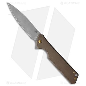 "Olamic Cutlery Rainmaker Frame Lock Knife Kinetic Earth Ti (4.25"" Dark SW)"