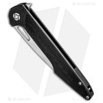 Artisan-Cutlery-Archaeo-Frame-Lock-Flipper-Knife-Black-Ti-CF--3.75--Damascus-