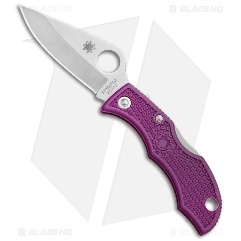 Spyderco-Ladybug-3-Knife-Purple-FRN--1.94--Satin--LPRP3