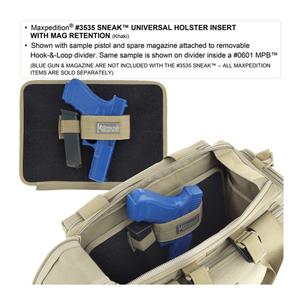 Maxpedition Sneak Universal Holster Insert w/ Mag Retention Black 3535B