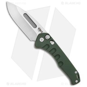 "Medford Praetorian Swift Automatic Knife Green Aluminum (3.3"" Tumbled)"
