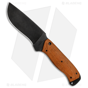 """Case Winkler Recurve Utility No. 6 Fixed Blade Brown Canvas (4.75"""" Black)"""