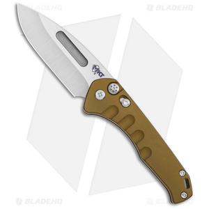 "Medford Praetorian Swift Automatic Knife Bronze Drop Point (3.3"" Tumbled)"