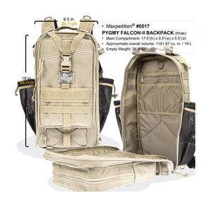Maxpedition Pygmy Falcon II Black Backpack 0517B